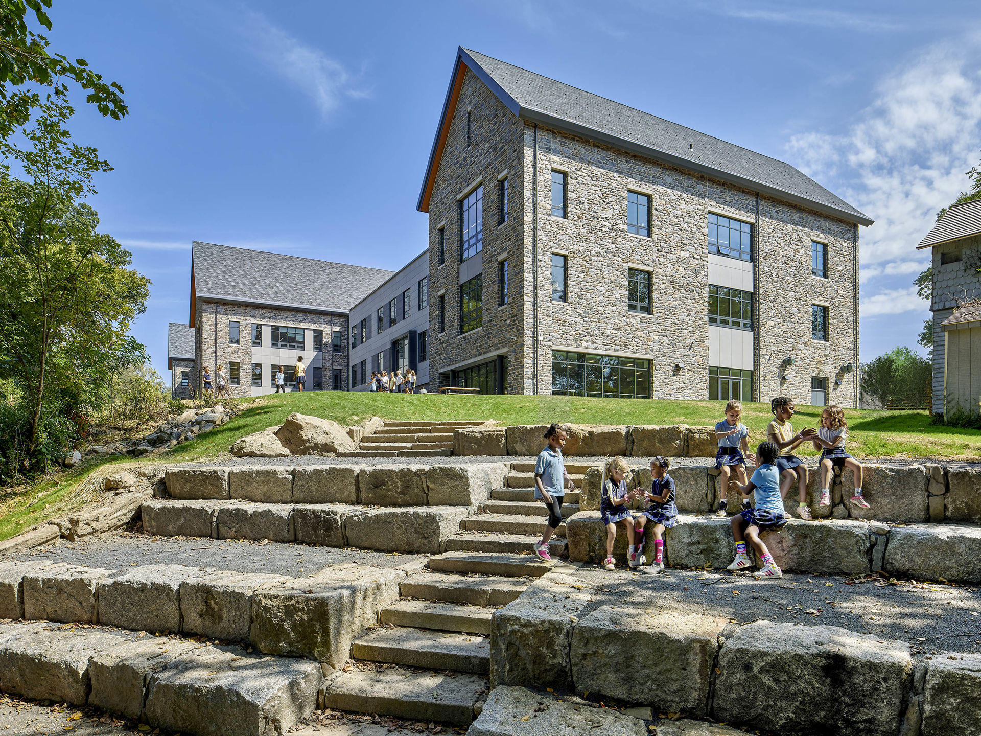 SCH Lower School Exterior steps