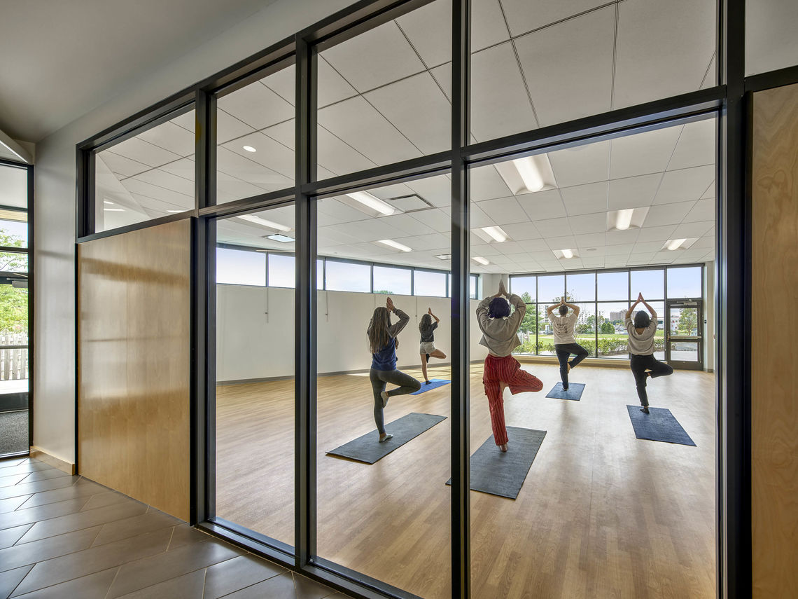 AFS athletic center yoga studio
