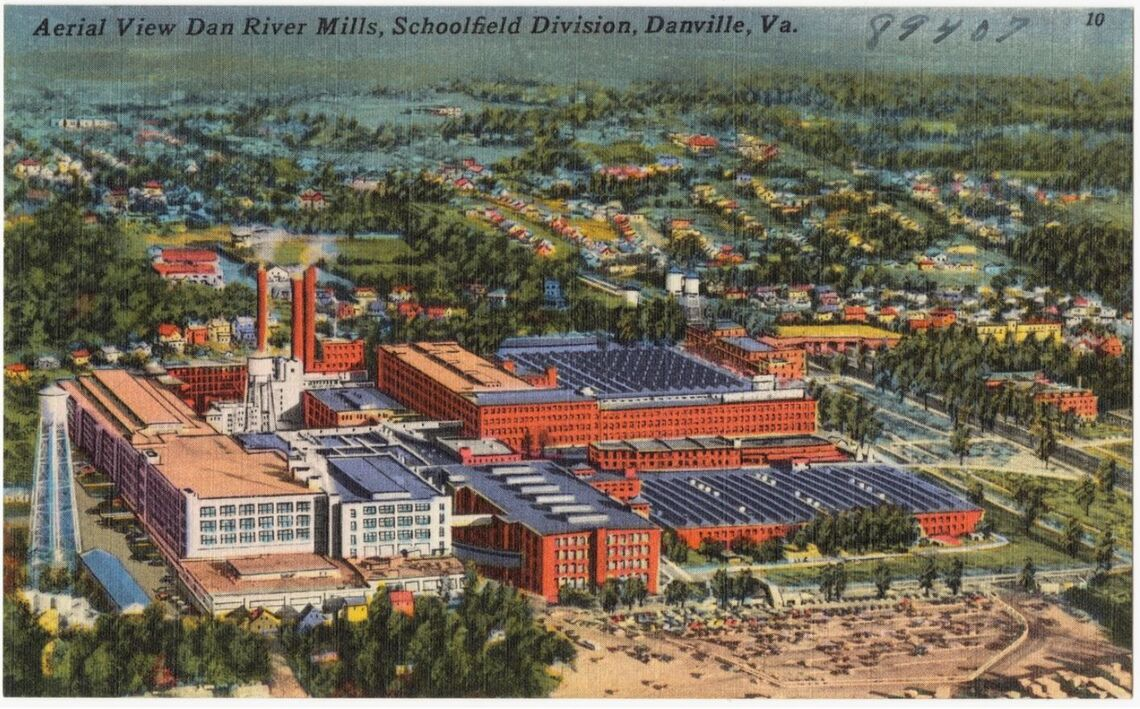 schoolfield dan river mill postcard